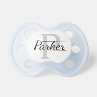 """Parker"" Personalized Name Initial Pacifier"