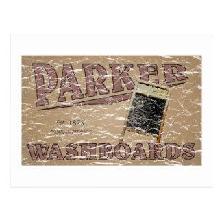 Parker Washboard - distressed Postcard