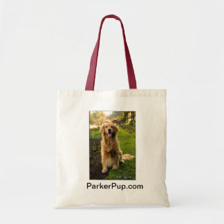 ParkerPup tote with red handle Budget Tote Bag