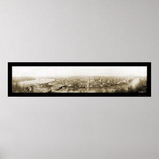 Parkersburg, foto 1909 de WV Póster