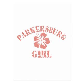 Parkersburg Pink Girl Postcard