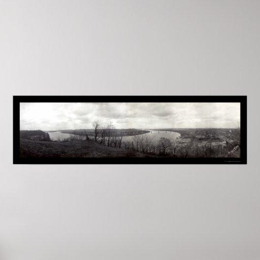 Parkersburg Riverfront Photo 1913 Poster