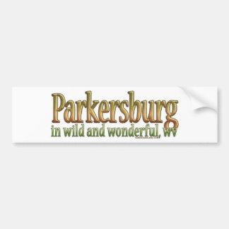 Parkersburg, Virginia Occidental Pegatina De Parachoque
