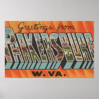 Parkersburg, Virginia Occidental - escenas grandes Póster