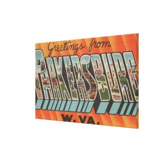 Parkersburg, West Virginia - Large Letter Scenes Canvas Print