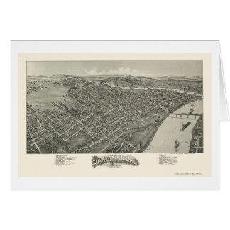 Parkersburg, WV Panoramic Map - 1899 Cards