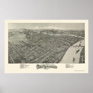 Parkersburg, WV Panoramic Map - 1899 Print