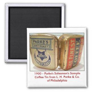 Parke's Coffee Tin. Magnet