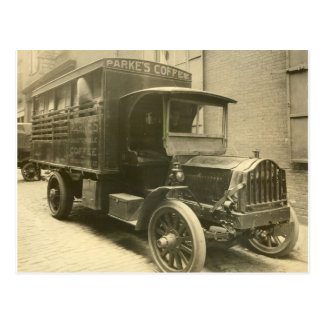 Parke's Coffee Truck - 1920 Postcard