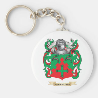 Parkhurst Coat of Arms (Family Crest) Key Chain