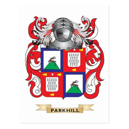 Parkhurst Coat of Arms (Family Crest) Post Card