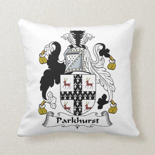 Parkhurst Family Crest Pillow