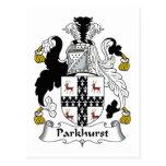 Parkhurst Family Crest Postcard