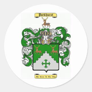 Parkhurst Pegatina Redonda