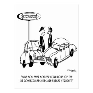 Parking Cartoon 5133 Postcard