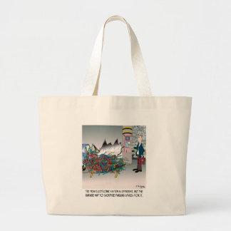 Parking Cartoon 8973 Large Tote Bag