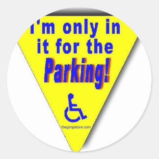 parking classic round sticker