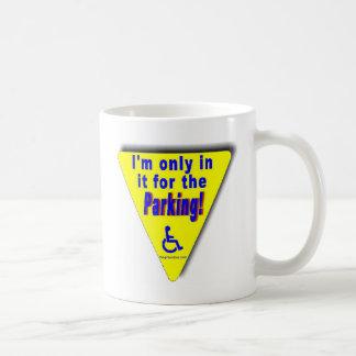 parking classic white coffee mug
