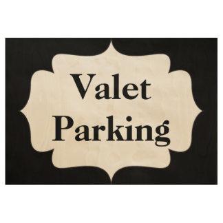 Parking con aparcacoches póster de madera
