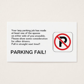 PARKING FAIL! BUSINESS CARD