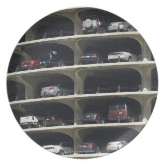 Parking garage Marina City Chicago Illinois USA Melamine Plate