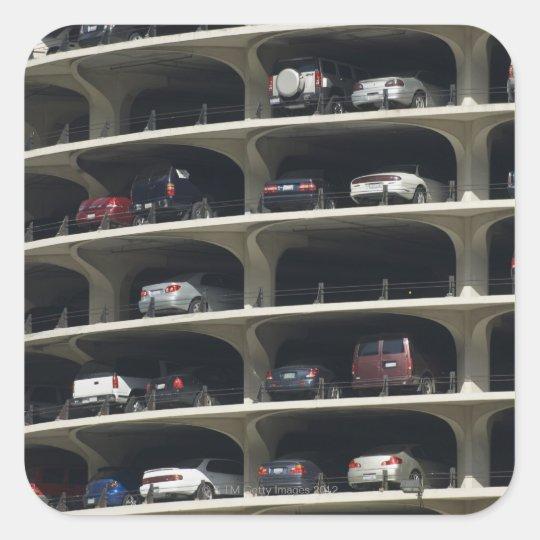 Parking garage Marina City Chicago Illinois USA Square Sticker