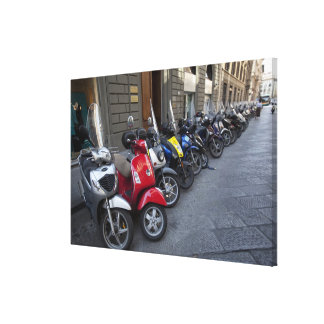 Parking is extremelly hard to find, Scooters are Canvas Print