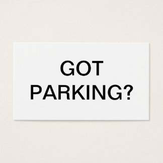 Parking issue business card