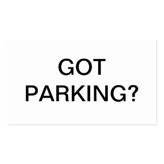 Parking issue Double-Sided standard business cards (Pack of 100)