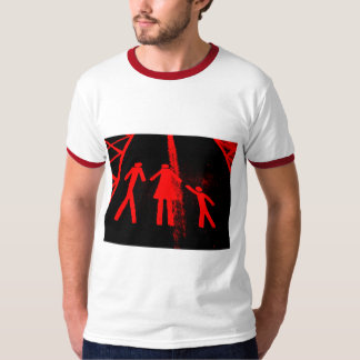 Parking Lot Abduction in Red and B... - Customized T-Shirt