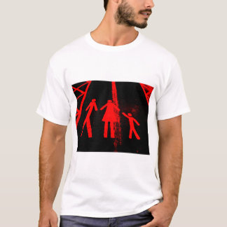 Parking Lot Abduction in Red and Black T-Shirt
