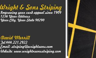 Asphalt business cards templates zazzle parking lot striping business card colourmoves