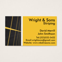 Parking lot striping business card