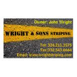 Parking Lot Striping Business Card Templates