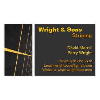 Parking lot Striping maintenance Business Cards