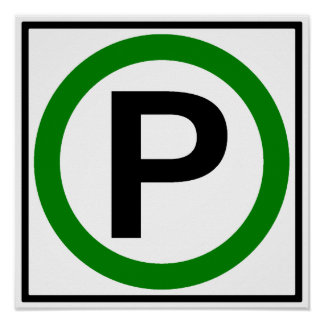 Parking Permitted Highway Sign Posters