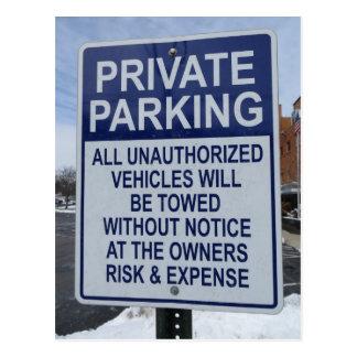 Parking Restrictions Postcard