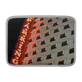 Parking sign on hotel at night, Las Vegas MacBook Sleeves