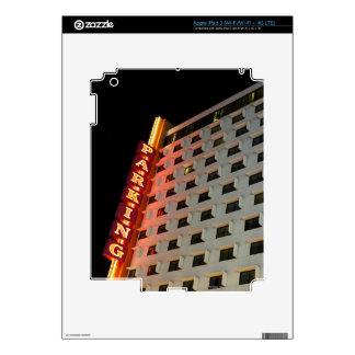 Parking sign on hotel at night, Las Vegas iPad 3 Skin
