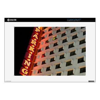 Parking sign on hotel at night, Las Vegas Skin For Laptop