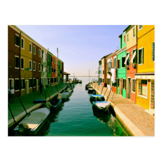 Parking Themed, A Narrow Passage Of Water With Few Postcard