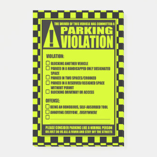 Parking Ticket Green Post-it Notes