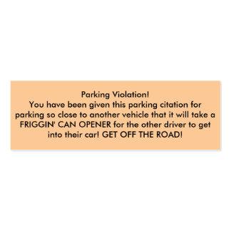 Parking Violation! Business Card Templates
