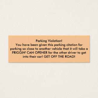 Parking Violation! Mini Business Card