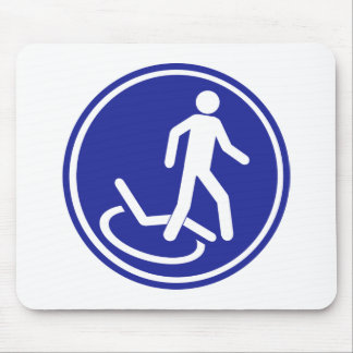 PARKING ZONE FOR DISABLED MOUSE PAD