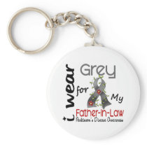 Parkinson Disease I Wear Grey For My Father-In-Law Keychain