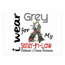 Parkinson Disease I Wear Grey For My Sister-In-Law Postcard