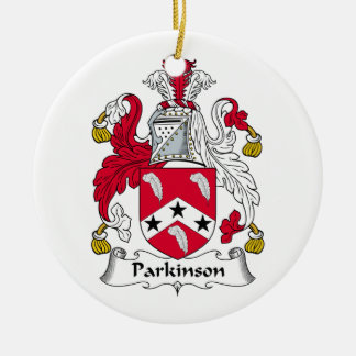 Parkinson Family Crest Ceramic Ornament