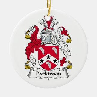 Parkinson Family Crest Christmas Tree Ornaments