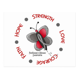 Parkinson's Butterfly 2 Inspirational Circle Postcard